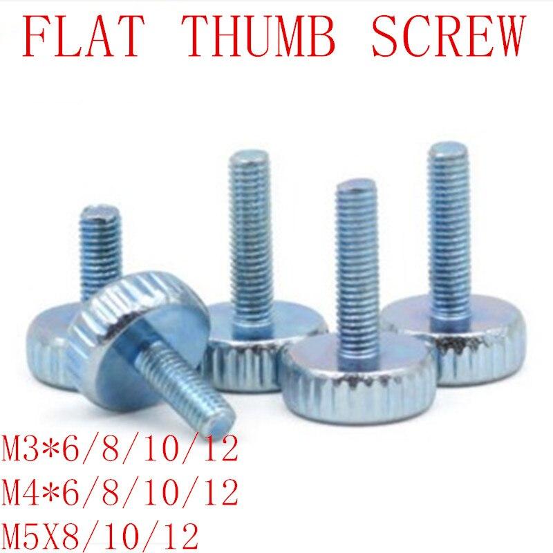 10PCS/LOT M3 M4 M5 Knurled  Head Hand tighten Thumb Screws10PCS/LOT M3 M4 M5 Knurled  Head Hand tighten Thumb Screws