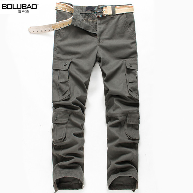 2016 Plus Size High Quality Summer Style Khaki Joggers Mens Khaki Pants  Pants Men Joggers Pants Cotton Long Trousers