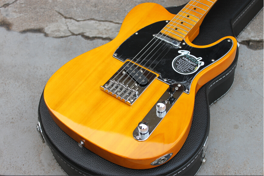 Best Price Wholesale New Arrive HOT New Style American Standard Yellow TL 6 String Electric Guitar w Hard Case Free Shipping фильтры для пылесосов filtero filtero fth 24 hepa фильтр для пылесосов bosch siemens