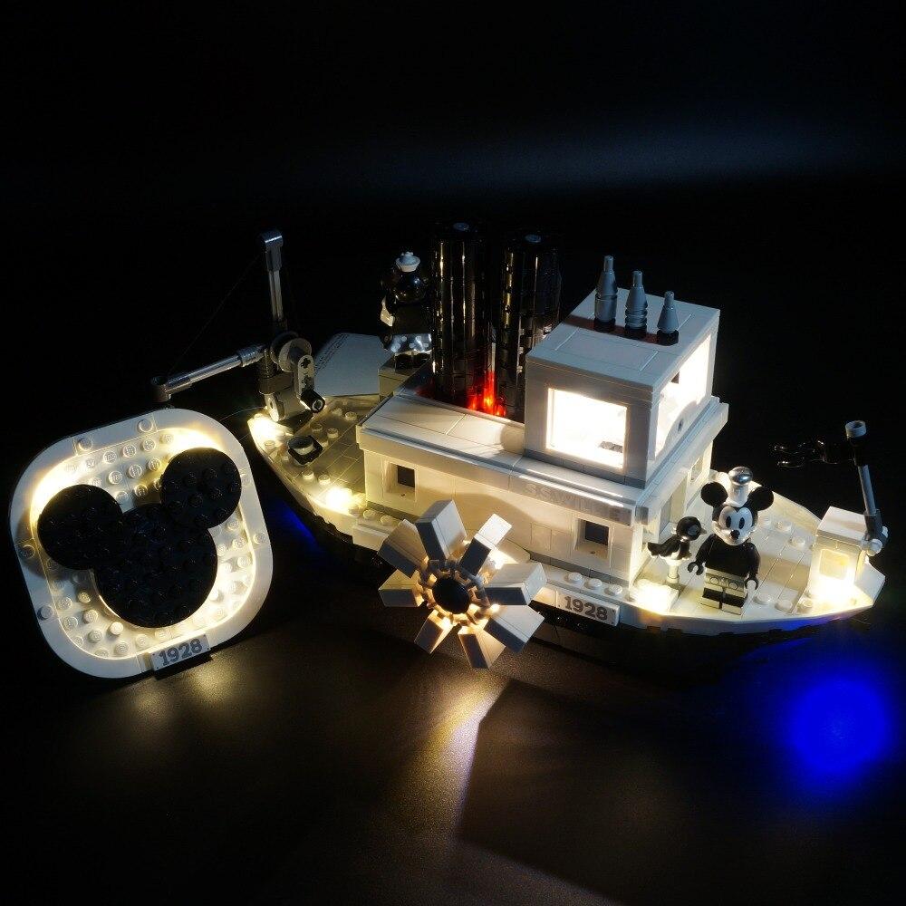 Kyglaring LED Light Kit For Lego 21317 Steamboat Willie Model ( Not Include The Boat)