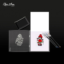 NEW Clear Stamps Acrylic block for Transparent Stamp Pad DIY scrapbooking Decoration Tools acrylic Holder Size 16x16cm