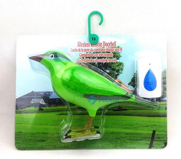 Wireless Door Chime Doorbell Bell Sparrow Bird Remote Control - Green quhwa qh 831a wireless door bell