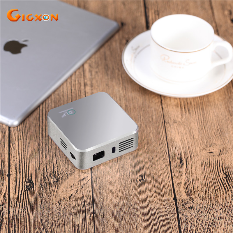 Gigxon 150 inches mini DLP smart projector G05 WiFi pocket Android projector 800 480 wireless with
