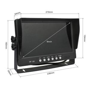 "Image 2 - DIYSECUR  9"" 4CH 4PIN 4 Split Quad Screen Color Video Monitor Screen for Video Surveillance System"