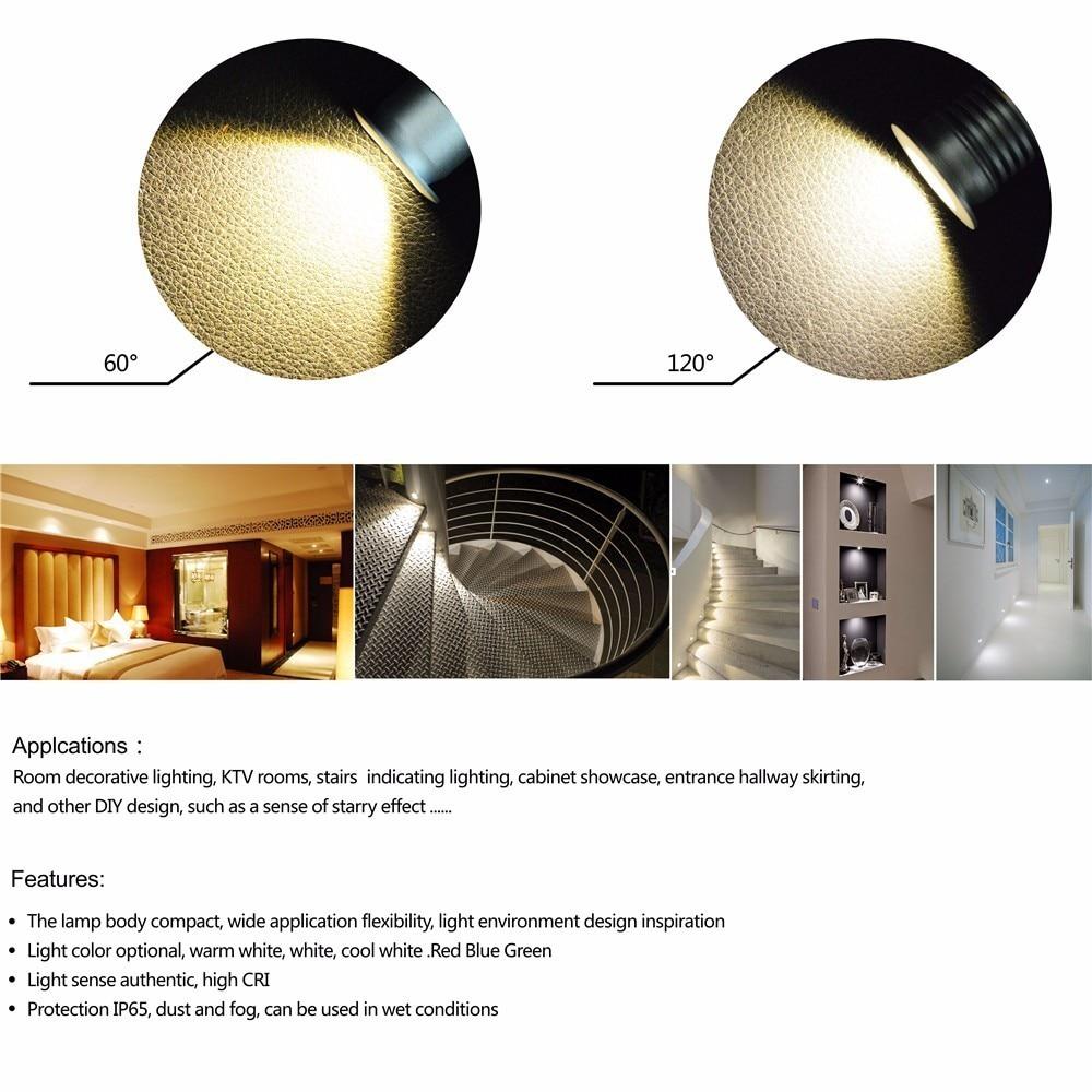 1W DC12V Mini LED Downlight 25mm Cutout, 60D/120D SpotLight, Home ...