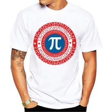 JOLLYPEACH BRAND PI Captain shield funny tshirt men 2018 new white short sleeve casual homme cool geek t shirt(China)