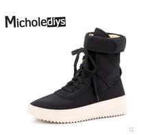 Téli alkalmi cipő High Street bőr Csipke cipő Soled márka Csizma férfiaknak és nőknek Kanye West Csizma