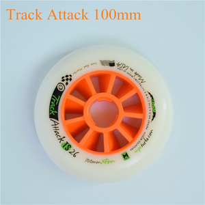 Image 4 - Track attack TS XFirm 110mm 100mm 90mm Inline Speed Skates Wheel using 608 bearing for Powerslide for MPC for STS 8pcs/lot