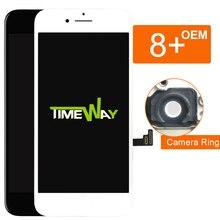شاشة LCD لهاتف iphone 8 Plus 100% تم اختبارها لاستبدال المُصنع الأصلي مع مجموعة رقمية مع شاشة ثلاثية الأبعاد تعمل باللمس لهاتف iphone 8 Plus LCD