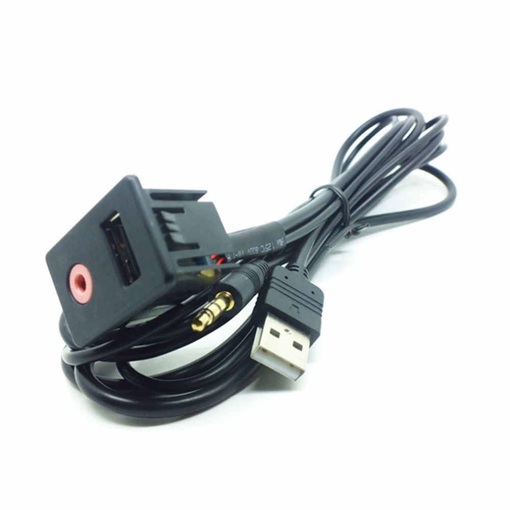 3.5mm samochodowy sprzęt audio kabel usb interfejs przenośny do przełącznika