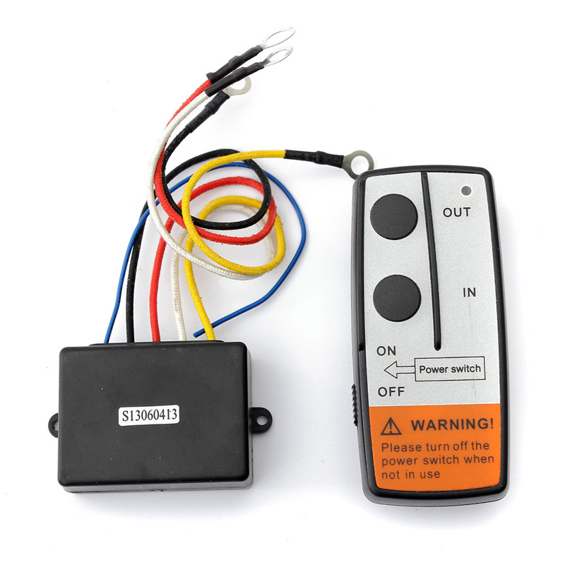 12V Wireless Winch Remote Control Switch Receiver Unit for Truck ATV SUV Winch 23A Best Price 2000lb 12v electric winch for car jeep truck with synthetic rope remote control 12v dc winches 4x4