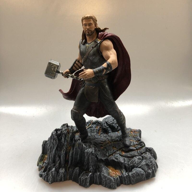 Kit de Garage DST Original Avengers 27 cm Marvel Thor avec figurine de poupée séisme avec Base modèle à collectionner jouet en vrac