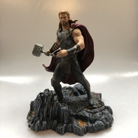 Original DST Garage Kit Avengers 27cm Marvel Thor with Quake Doll Action Figure with Base Collectible Model Loose Toy