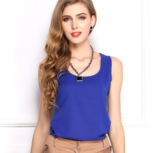 15 Candy Colors New Fashion 2016 Summer Tops T-Shirt Women O Neck Sleeveless Simple Style Casual Chiffon T Shirt Tees Plus Size