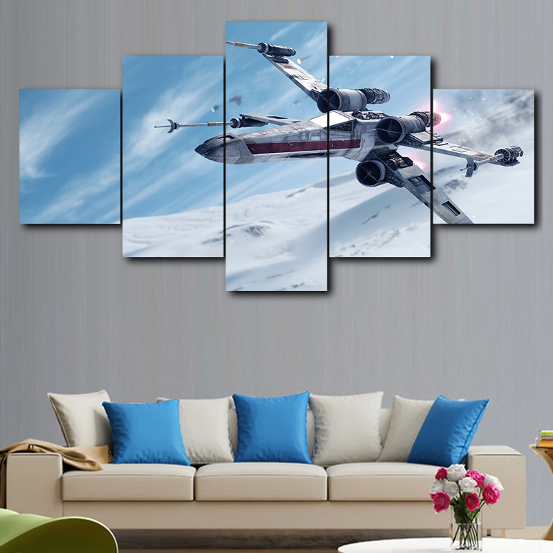 Modular Picture Wall Art HD Print 5 Piece Star Wars Film Canvas Painting Modern Bedside Background Home Decoration Framework image