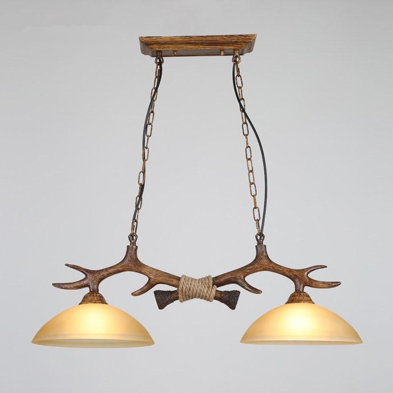 Крытый рога Люстра для европейской страны Гостиная рождественские украшения лампа Luminarias Para Сала-де-янтарь подвесной потолок