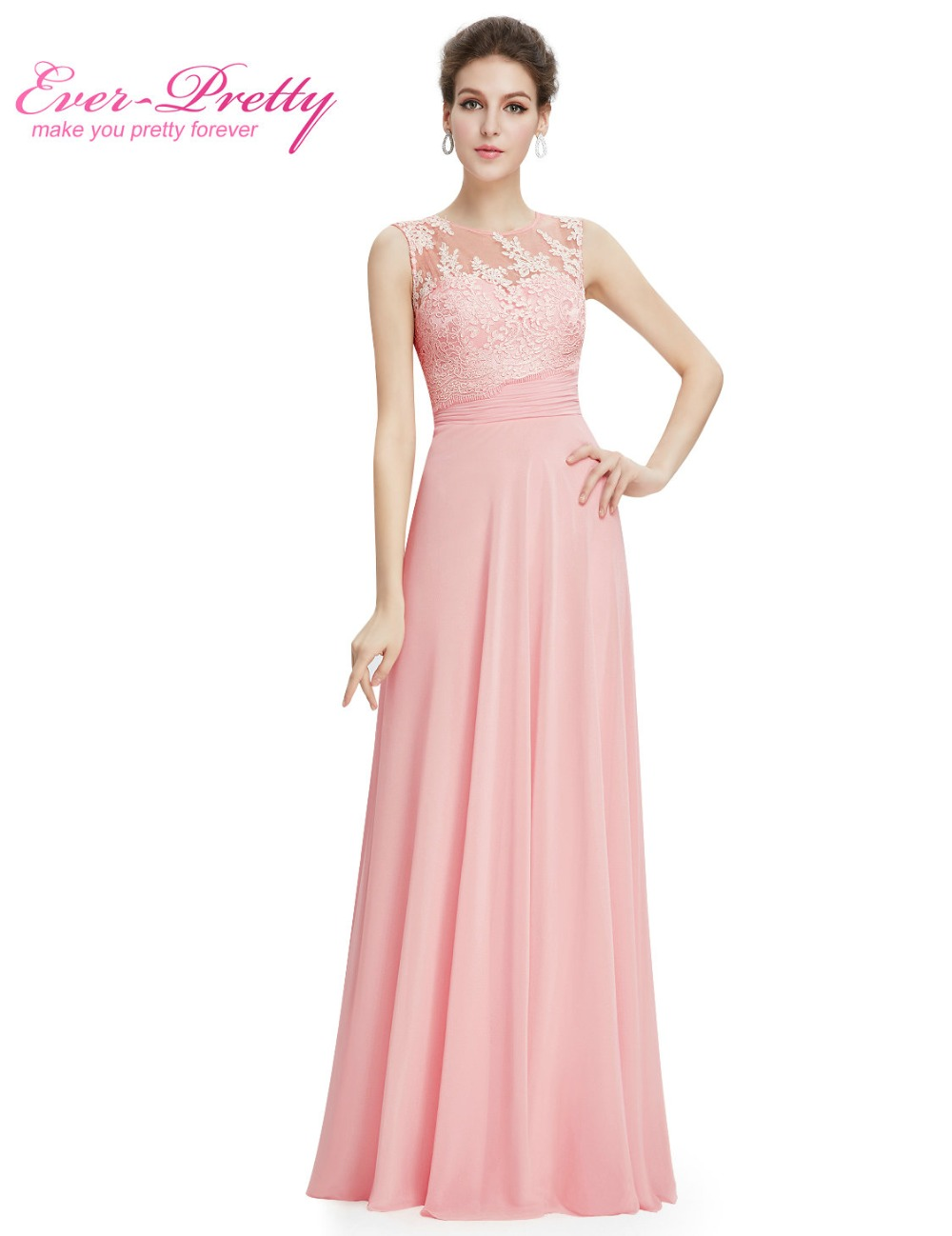 Elegant light pink chiffon long bridesmaid dresses ep08760 2017 elegant light pink chiffon long bridesmaid dresses ep08760 2017 vestido formal dress floor length sleeveless bridesmaid dresses in underwear from mother ombrellifo Images