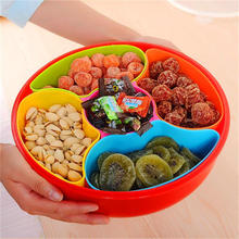 Free shipping fashion Family expenses  large candy Storage Box living room plastic combined dried fruit seeds fruit plate