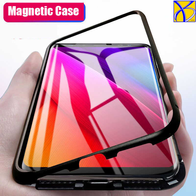 10pcs Metal bumper Magnet Case for Samsung Galaxy S8 S9 Plus Note 8 9 Magnetic Case for Huawei P20 lite pro mate 10 pro honor 10