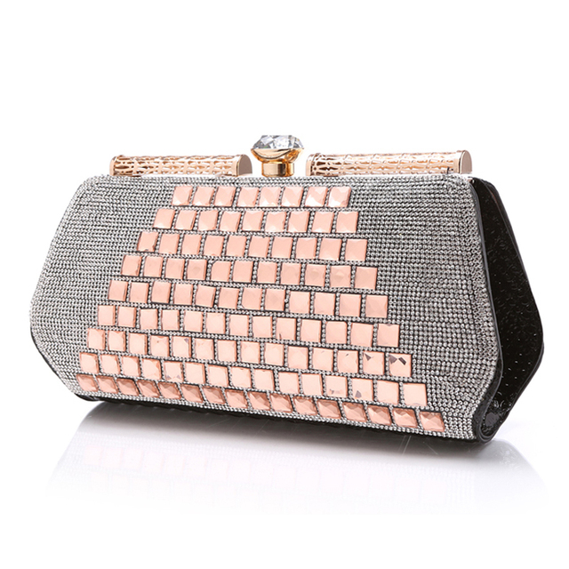 Reiwalker Diamond-Studded Evening Bags Wedding Day Clutches With a Diamond Bag Women's Rhinestone Banquet Handbag  10 Color