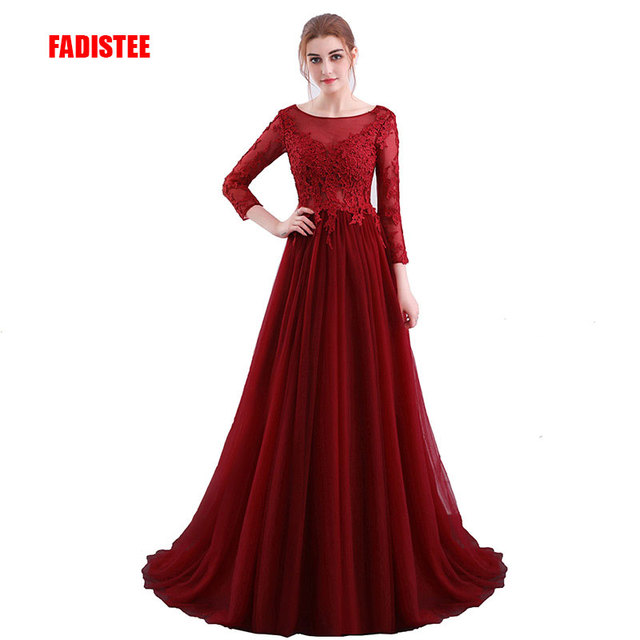 Fadistee New Arrival Evening Party Dresses Long Gown Vestido De