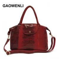 GAOWENLI Brand 2018 Genuine Leather Luxury Serpentine 100 Real Cow Leather Elegant Multi Functional Big Shoulder