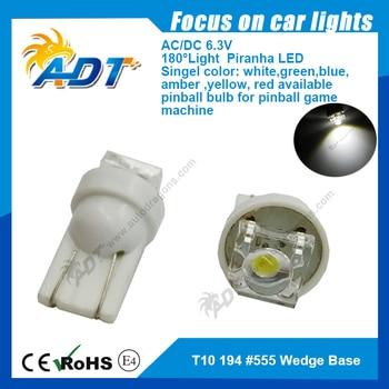 100units 6.3 Volt Piranha LED Led 555 bumper anti ghost super bright pinball led light for pinball game machine parts