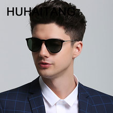 HUHAITANG Vintage Classic Sunglases Men Vintage Cat Eye