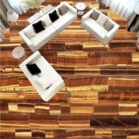 O Envio gratuito de teste padrão de Mármore parquet personalizado Afixada estéreo 3D arte piso pintura sala de estar quarto Auto-adesivo papel de parede