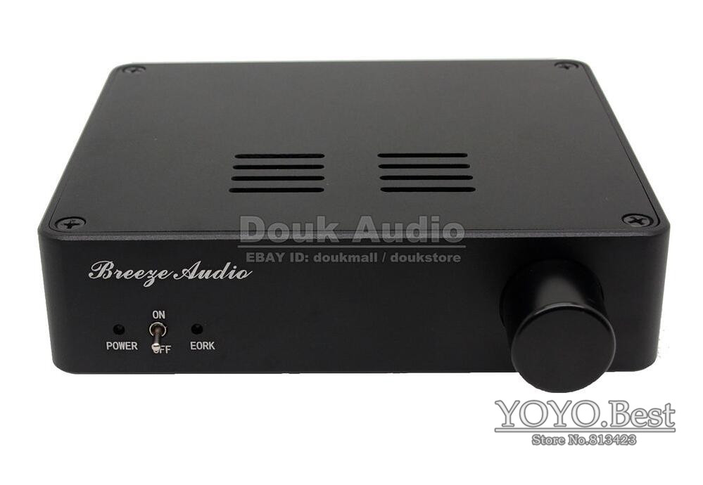 Douk Audio TDA7498E Class D HiFi Stereo Digital Amplifier High-power Audio Amp 160Wx2 Black Free Shipping yjhifi tas5630 opa1632dr audio high power digital amplifier board class d 2 300w dc50v hifi diy deluxe edition