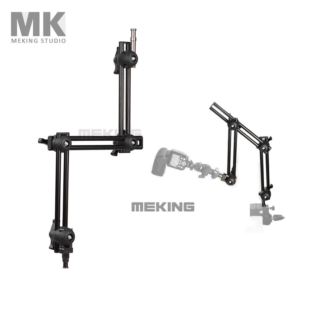 Prix pour Selens photo studio m11-099 trois-section support réglable bras articulé coulissante système d'extension lumière stand accessorires