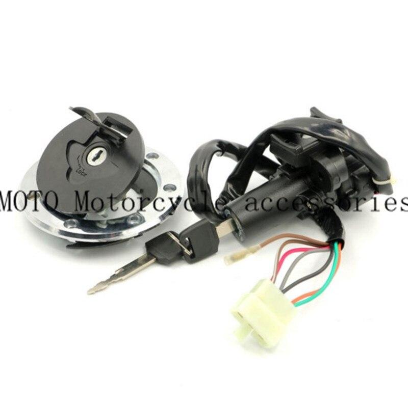 Motorbike Ignition Switch Gas Cap Seat Key Lock Set For Kawasaki ZZR400 93-03 04 05 06/ ZZR600 1993-2004/ZXR400 ZXR750 1991-1994