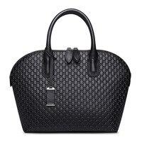 Luxury Design Lozenge Pattern Genuine Leather Lozenge Shell Bag Business Women Handbag Shopping Bag Fashion Pendant