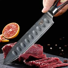 XYj High-grade Damascus Knife Japanese VG10 67 Layers Steel Blade Color Wooden Handle Kitchen Knives Cooking Tools