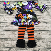 2017 Aicton Best Trending Products Fall and Winter Boutique Girl Clothing Kids Baby Clothing Halloween outfits