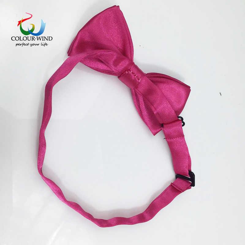 Classic Bambini Papillon Poliestere Solido Bowtie Marca Tie Cute Baby Farfalla 10*5 CM Ragazzi Colorato A Mano Corbatas foulard