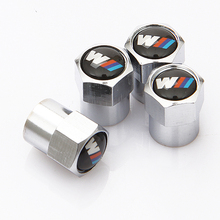 4 Pcs Metal M Power Emblem Logo Car Tire Valve Caps Car Styling Air Tyre Stems