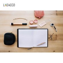 Laeacco Book Makeup Tools Wooden Board Portrait Photographic Backdrops Customized Photography Backgrounds Photocall Photo Studio hello daddy board book