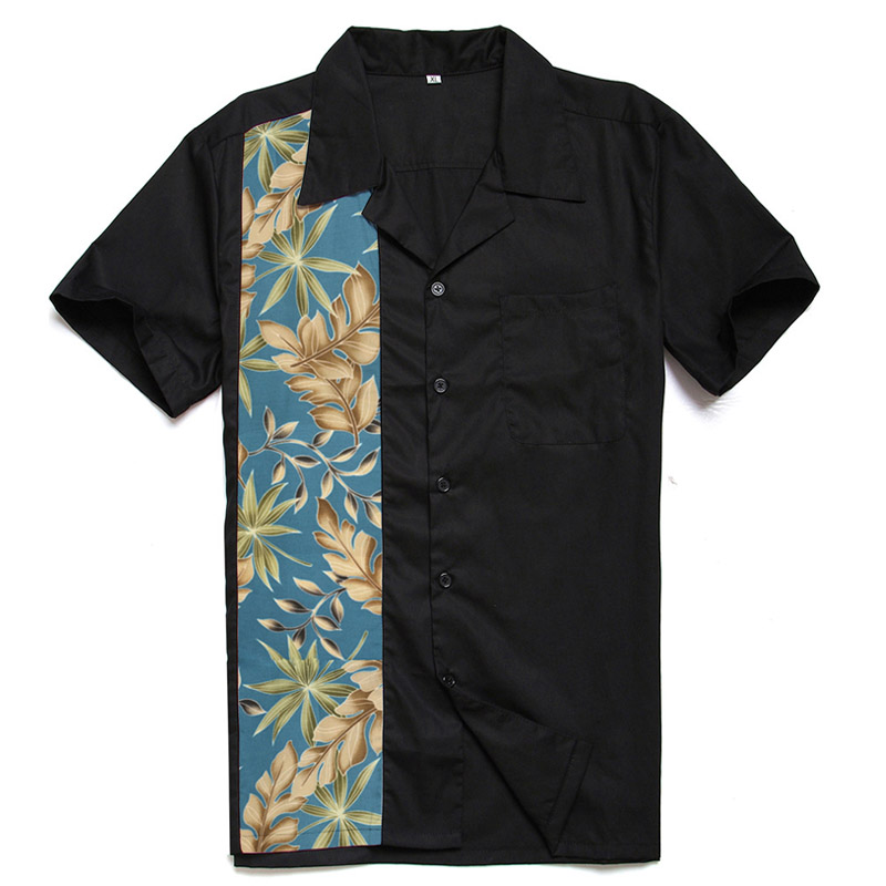 latest design fair price enjoy complimentary shipping US $27.89 49% OFF|AOWOFS Mens Hawaiian Shirts Black Big and Tall Men  Clothing Short Sleeve Large Panel Casual Flowers Shirts Plus Size Retro  Style-in ...