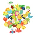 Children Various Shapes and Colors Cartoon 48pcs Wooden Refrigerator Magnets on Promotion New Free Shipping