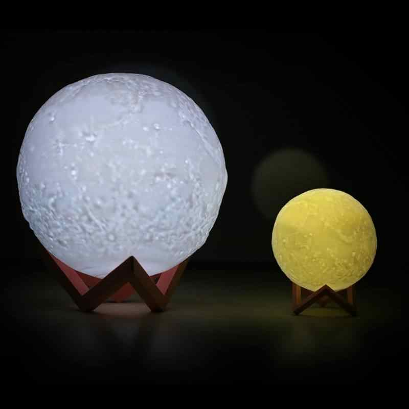 8-20 см 3D принт светодиодный волшебный полнолуний ночник сенсорный датчик настольная луна лампа USB, Рождественский подарок Изменение цвета лунный светильник