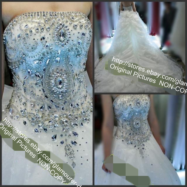 2013 wedding dress with swarovski crystal beads crochet wedding ...