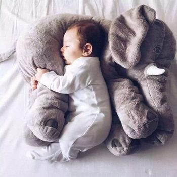 40 cm / 60 cm de altura Grande brinquedo de pelúcia elefante boneca crianças dormindo almofada de volta bonito elefante de pelúcia bebê acompanhar boneca presente de natal 1