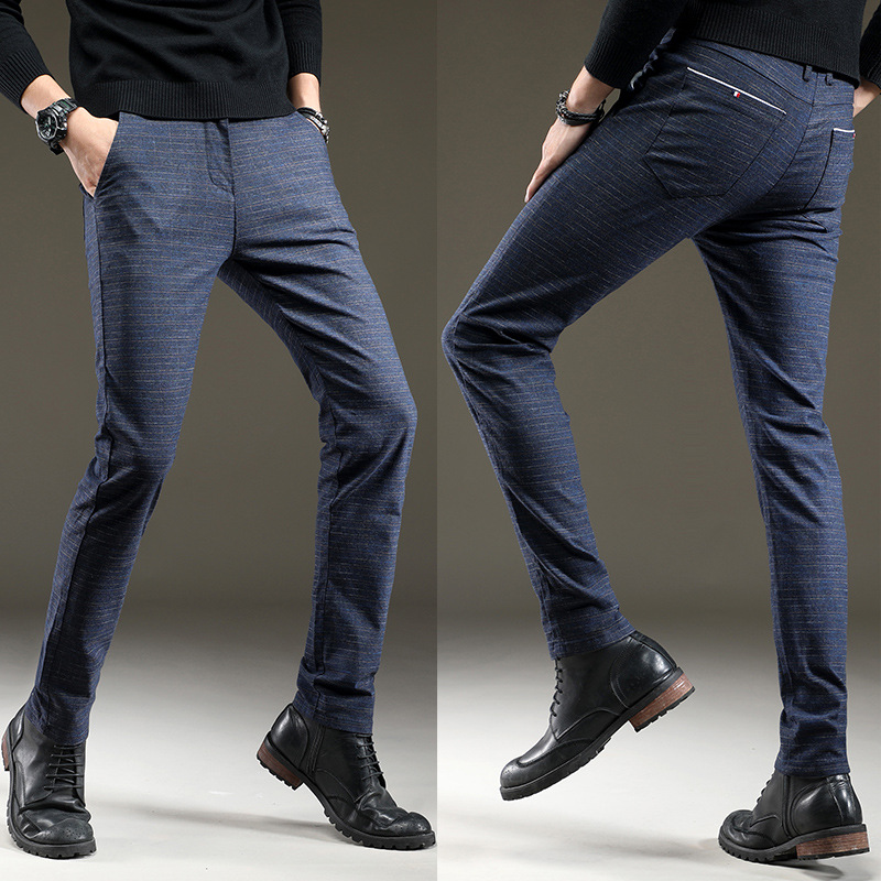 Men Pants Quality Fashion Spring Autumn Men Pants Trousers Business male trousers men's Long pants pantalones hombre
