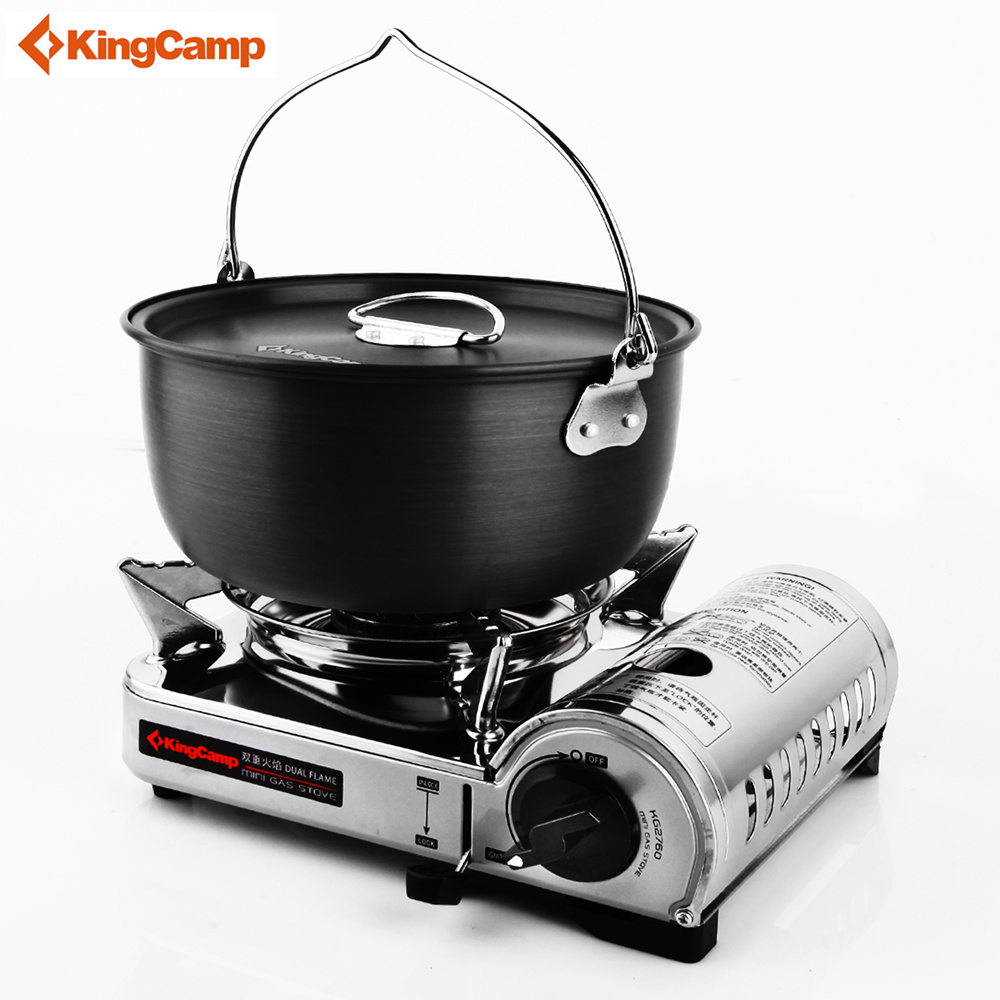 KingCamp Outdoor Stove Portable Gas Stove Camping gas furnace for Hiking Trekking Cooking 5 Years Warranty fire maple x2 portable gas stove burner 1l 600g fms x2 hand held personal cooking system outdoor hiking camping equipment oven