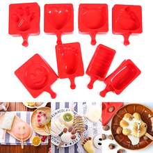 Ice Cream Mold 1PC Summer Kitchen Accessories 8Shapes Silicone Lolly Maker DIY Popsicle Molds pink blue red random