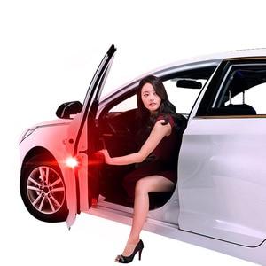 Image 3 - 2X אוניברסלי רכב LED פתיחת דלת בטיחות אזהרה נגד התנגשות אורות פלאש אור אדום ערכת אלחוטי מעורר מנורת אות אור
