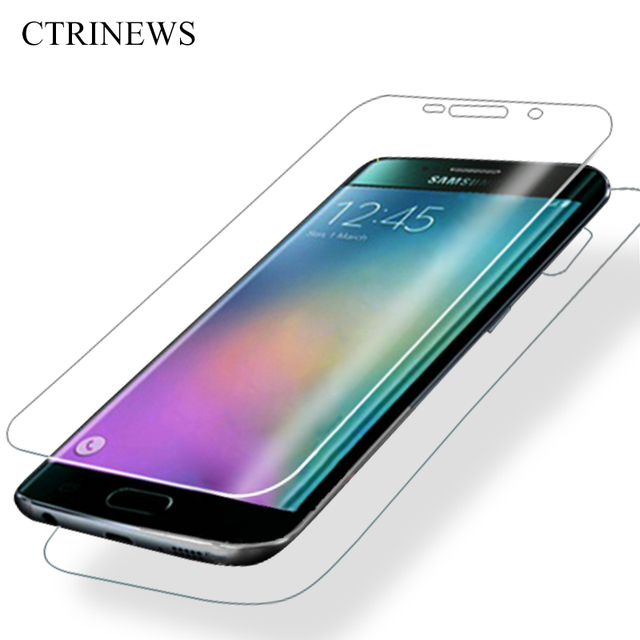 Спереди и сзади 3D изогнутые поверхности Full Cover для Samsung Galaxy S6 край S7 край чехол S8 pet мягкая Экран протектор фильм Капа