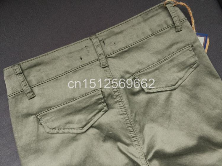 Army Green Jeans Women 12