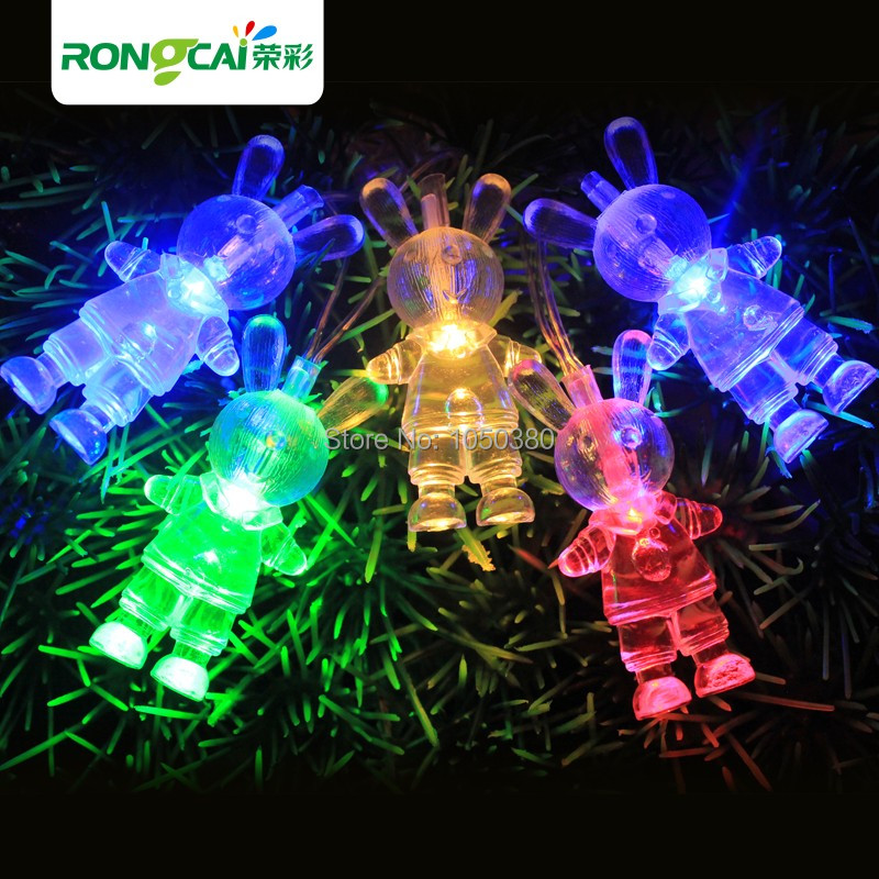 Entire String Christmas Lights Not Working : Led lights flasher rabbit lighting string Christmas wedding decoration lantern full copper wire ...